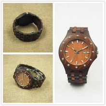New Design Brand Name Wooden Watch Printed Flower Bamboo Wood Ladies Watches