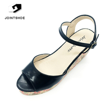 China manufacture latest design elegant women high heel wedge shoes for sale