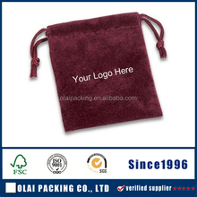 Micro soft suede pouch for cosmetics,custom suede jewelry pouch embroidered logo