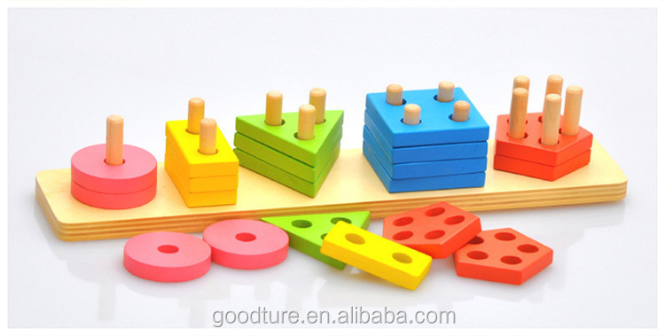 Geometric Shapes Matching Educational Wooden Toys