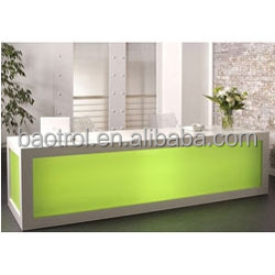 Modern luxury solid surface reception counter, customized size salon reception desk