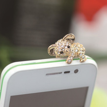 Cute Silver/Gold Koala Design Mobile Phone Ear Cap Dust Plug For all 3.5mm Earphone Plug Smart Phone Dustproof Plugs Girls Women