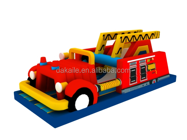 Outdoor popular PVC Inflatable games Fire Truck