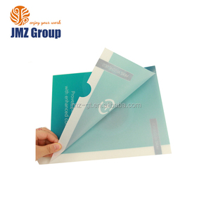 Customized A4 size printing plastic PP L shape file folder for promotion