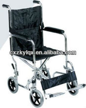 "Steel Portable Wheelchair 4*8""solid wheels LY840F"
