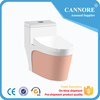 China toilet siphonic Western bathroom set one piece square colorful toilet