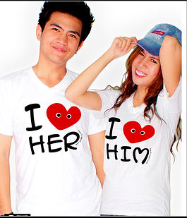 Print screen couple T-shirt