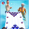 summer customized pvc inflatable floating beer pong table/Swimming Pool Inflatable Beer Pong Game