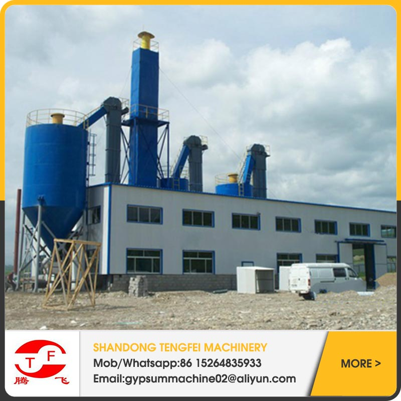 Plaster powder production line for Fludized bed furnace burning type