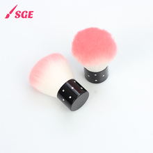 Single makeup tool face foundation cosmetic brushes with synthetic hair