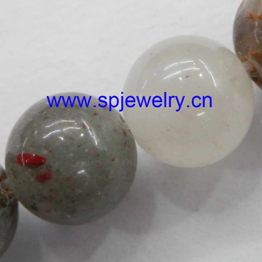 blood agate stone natural stone, round 4-16mm, 16-inch per strand, wholesale fashion beads
