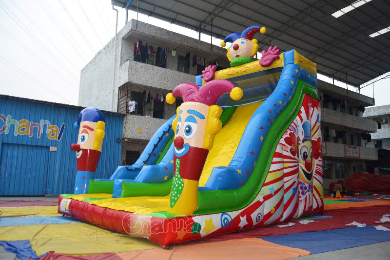Hot selling giant inflatable colwn inflatable dry slide for sale, slide inflatable