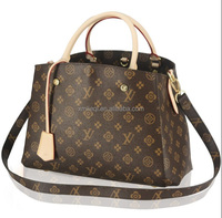 Fashion ladies Tote Bags real Leather Handbags grain cow leather handbags