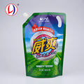 China Wholesale Spouted Laundry Liquid Packaging Printed Plastic Pouches For Custom