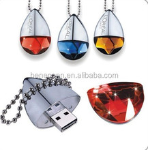 Gift diamond necklace usb pen driver 32gb
