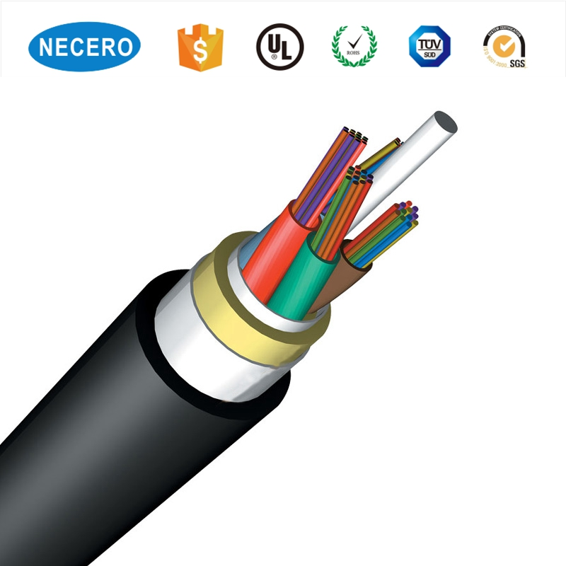 Wholesale 96 Core Adss Fiber Optic Cable Adss Single Mode Outdoor 24F Online Shopping 36 Core Adss Optical Fiber Cable