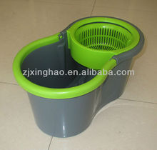 2nd Generation 360 Degree Spin Mop & Spin Dry Bucket 2 Heads without Pedal New Car Cleaning Mop