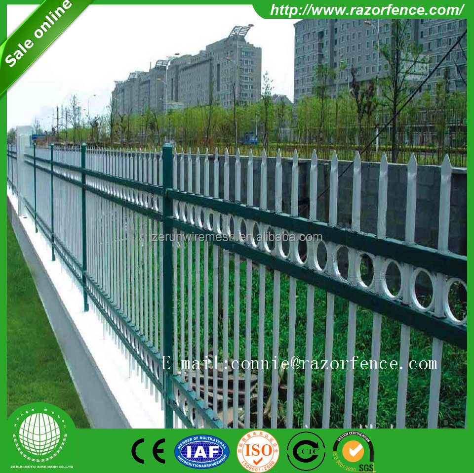 China made forge iron ornamental picket fence finial/fence panel