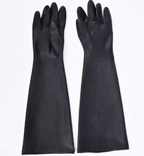Cheap long sleeve latex industrial rubber gloves anti acid