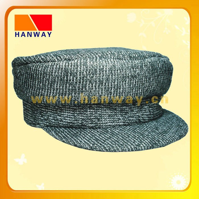 mixed-color fashion winter cotton knit military hat