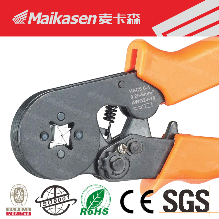 Best Quality Mini-Type Self-Adjustable Crimping Plier, Grade A Hand Crimp Tool Work With Insulated Ferrules<
