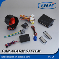 security one-way car alarm with long distance keyless entry system