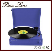 Rain Lane Beautiful Colour and Antique Variable Speed Turntable Built In 2 Stereo Speakers Phonograph For Sale