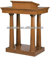 Pedestal Lectern, Podium, Pulpit,Opened Tiered with lift-lid storage area wooden churh Pulpit / Oak church furniture