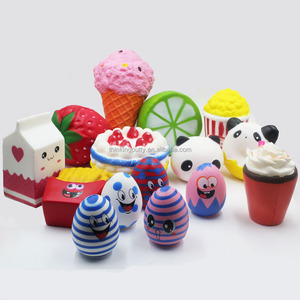 Squishy Slow Rising Soft Cute Jumbo Panda/Ice cream/Chips/ Strawberry/Cake/Eggs/Milk box/Lemon