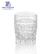 High white raw material engraved rock glass cup whisky glass nice designed cup