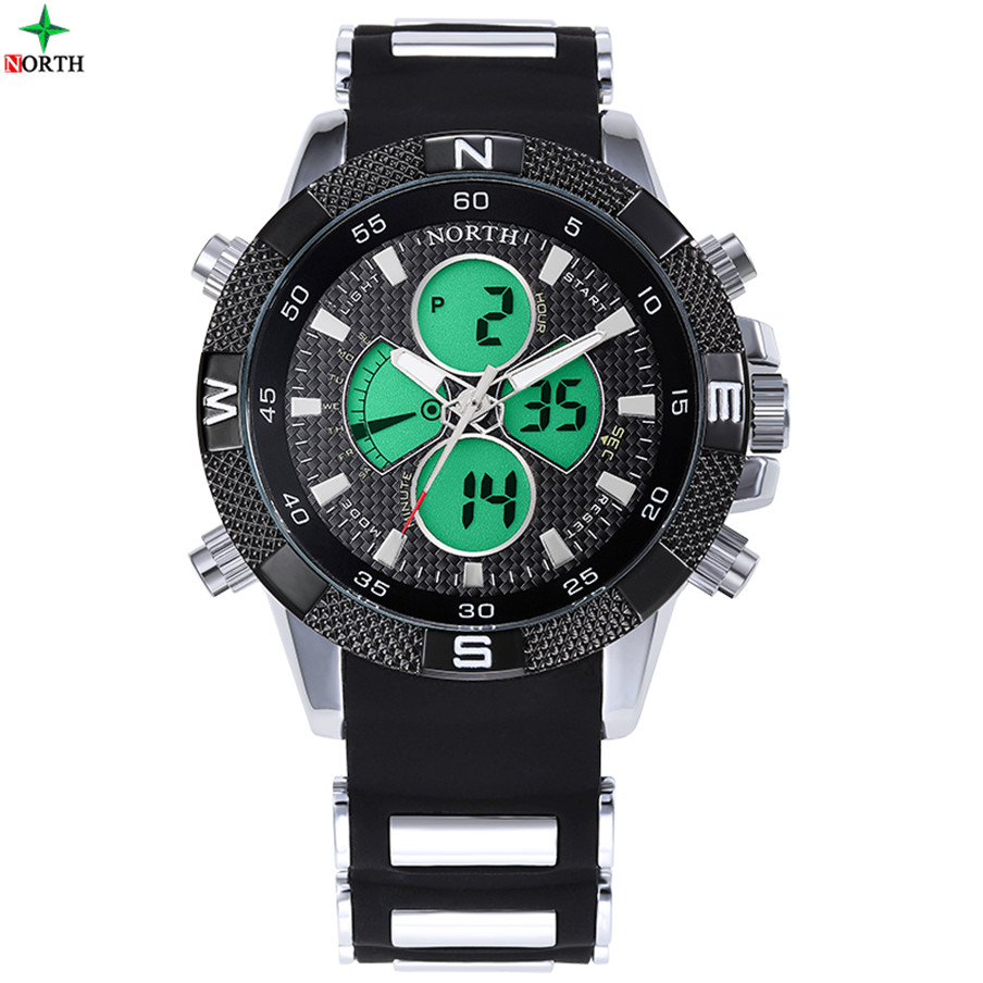 Black Classical Silicone Band Japanese Quartz Movement Waterproof 3 atm Branded Wrist Watch Men