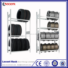 Steel Light Duty Adjustable Tire Rim Shelving For Warehouse