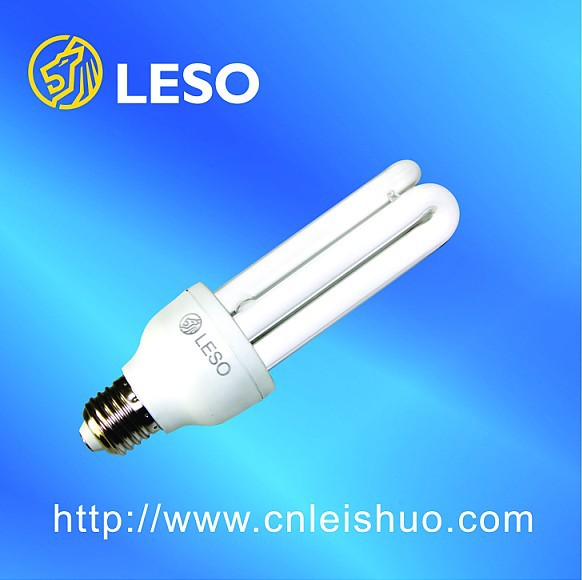 good news CFL 12mm 3U 13w energy saving lamp plastic surface