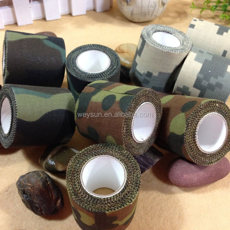 army insulated cotton self adhesive tape camo camouflage fabric tape 4.5cm x 5M DHL Freeshipping