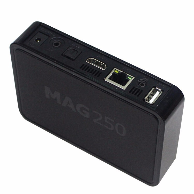UK market hot selling IPTV mag 250 mag 254 mag 260 with hd cable wifi adapter mag250 mag254
