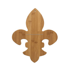 New Design fleur de lis shaped Bamboo Cutting Board - Best Kitchen Chopping Board