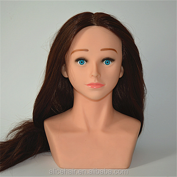 Wholesale price human hair triaining mannequin head with shoulder