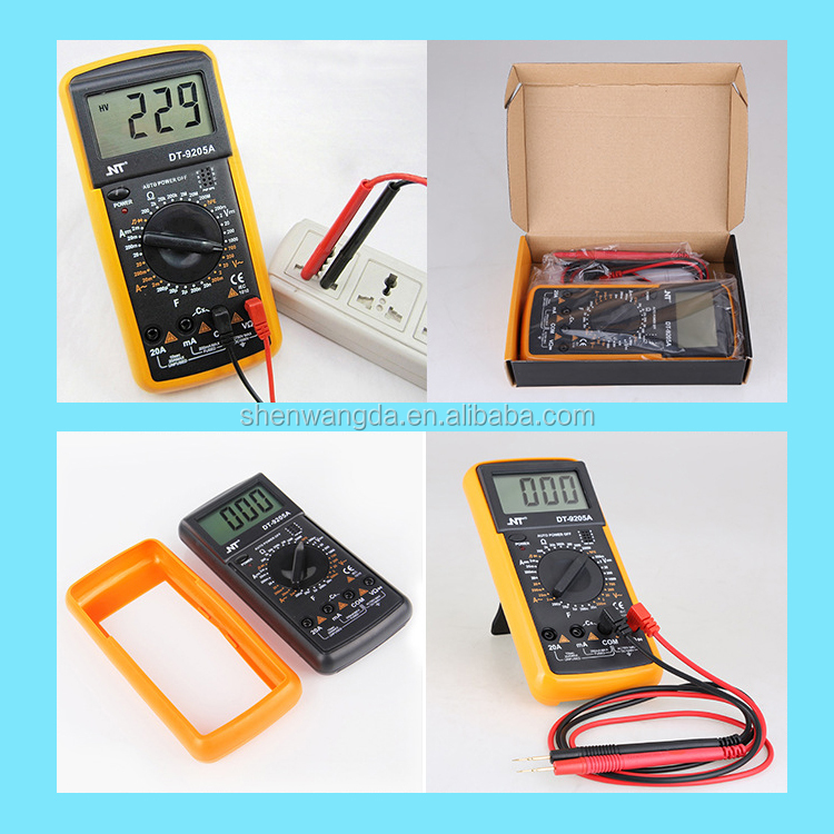 High Quality DT-9205A Manual Digital Multimeter