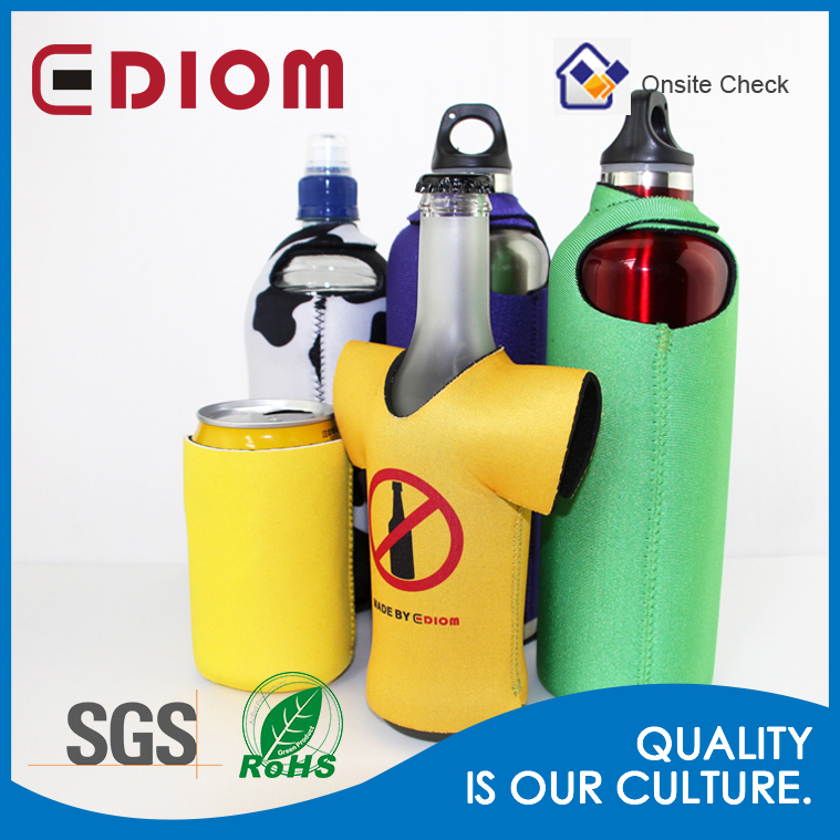 SGS approval wholesale custom printed logo thermal insulated neoprene water bottle cover