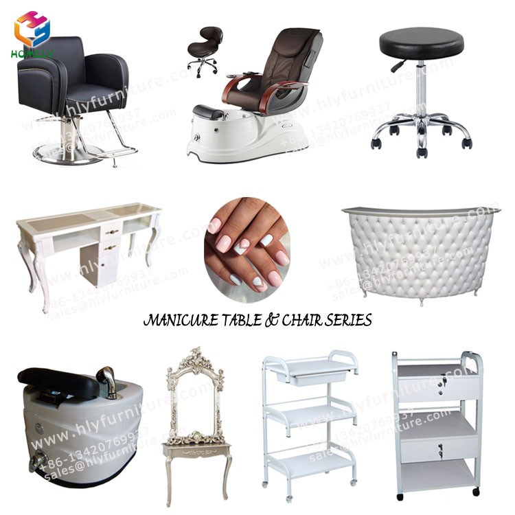 wholesale nail salon beauty luxury high back throne white massage spa pipeless foot basin manicure pedicure chair no plumbing