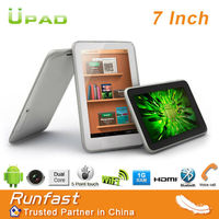 cheap 7-inch android tablet pc with Dual-core MTK6577 CPU, Phone Call, GPS and BT Functions