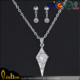 new style long chain jewelry set bridal jewelry sets uncut diamond necklace sets,fashion design hanging earrings
