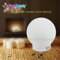 2015 Creative Intelligent Wireless APP control Smart led lamp bluetooth speaker with alarm clock