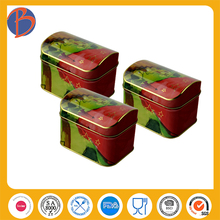 rectangle tin can with clear window fruit candy storage tin box milk candy tin cans