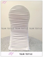 Wholesale wedding Ruffled lycra spandex chair cover