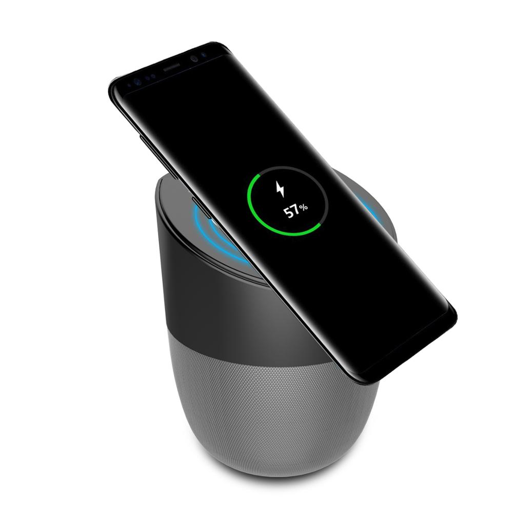 New products 2018 innovative products new QI wireless charger bluetooth <strong>speaker</strong> with phone holder