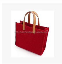 Felt bag/ felt tote bag/felt shopping bag Felt Lady Handbags Manufacturer Wholesale Personalized Shoulder Bag