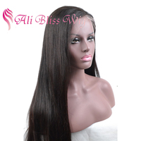 20 Inch Filipino Hair 100% Virgin Long Black Natural Hairline Straight Human Hair Full Lace Wig for Black Women