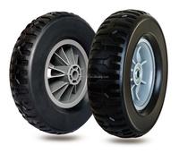 10 inch semi-pneumatic rubber wheels for garden caddy, garden trailer, trolley