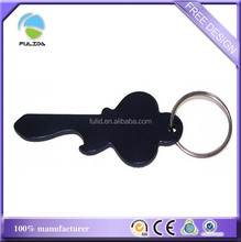 wholesale aluminum alloy metal black key shaped bottle opener keychain keyring